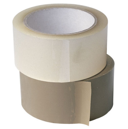 Packtejp PVC 38mm, 66m, Transparent, 48st/kartong